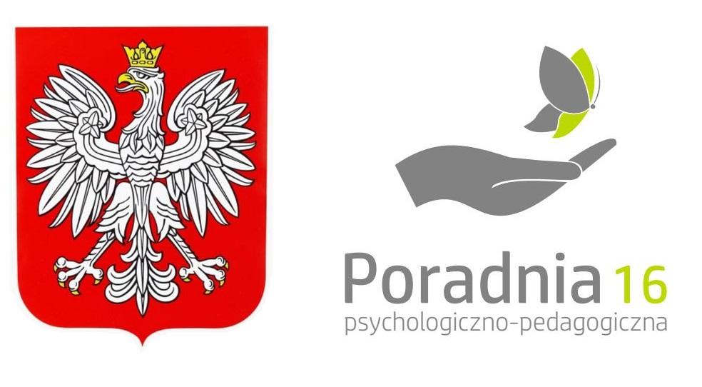 godło Polski i logo Poradni