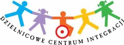 Zdjęcia Przedstawkia logo Dzielnicowego Centrum Integracji