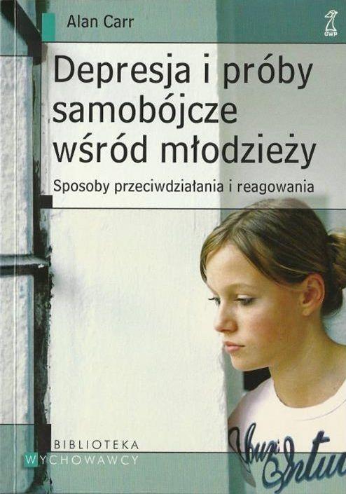 """okładka książki """"Depresja i próby samobójcze wśród młodzieży"""""""